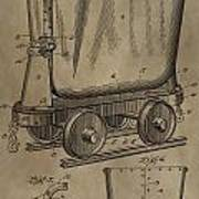 Antique Mining Trolley Patent Poster
