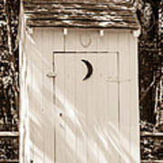 Antique Outhouse Poster