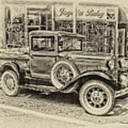 Antique Pickup Truck Poster