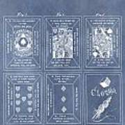 Antique Playing Cards Poster