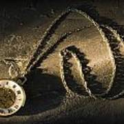 Antique Pocket Watch On Chain Poster