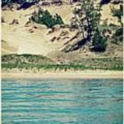 Antique Snapshot Series - Dunes On Lake Michigan Poster