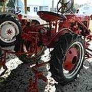 Antique Tractor Hiding In The Shadows Poster