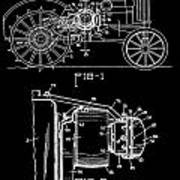 Antique Tractor Patent Poster