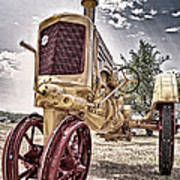 Antique Tractor Poster by Tamyra Ayles