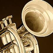 Antique Trumpet Poster