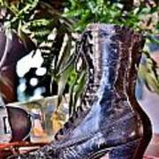 Antique Victorian Boots At The Boardwalk Plaza Hotel - Rehoboth Beach Delaware Poster