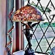 Antique Victorian Lamp At The Boardwalk Plaza - Rehoboth Beach Delaware Poster