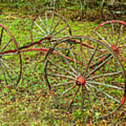 Antique Wagon Frame Poster