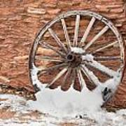 Antique Wagon Wheel Poster