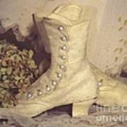 Antique Wedding Shoes Poster
