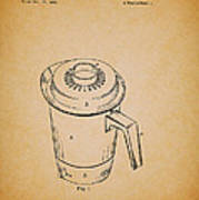 Antique Westinghouse Coffee Maker Patent 1964 Poster