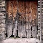 Antique Wood Door Damaged Poster