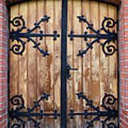 Antique Wooden Door Poster
