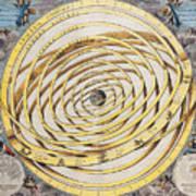 Antique Zodiacal Planetarium Poster
