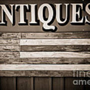 Antiques Sign Poster