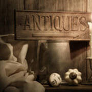 Antiques Still Life Poster
