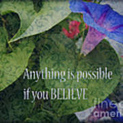 Anything Is Possible Poster by Eva Thomas