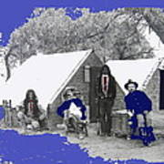 Apache Scouts Soldiers Living Quarters Location And Date Unknown  Poster
