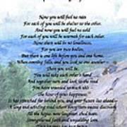 Apache Wedding Prayer Poster