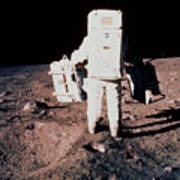 Apollo 11 Astronaut Edwin Aldrin Setting Up Easep Poster
