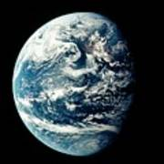 Apollo 11 Image Of Earth Showing Pacific Ocean Poster