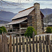 Appalachian Mountain Cabin Poster by Randall Nyhof