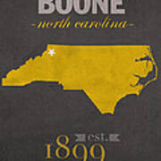 Appalachian State University Mountaineers Boone Nc College Town State Map Poster Series No 010 Poster
