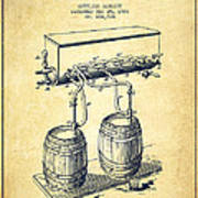 Apparatus For Beer Patent From 1900 - Vintage Poster