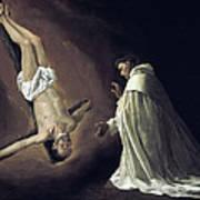 Apparition Of Apostle Saint Peter To Saint Peter Nolasco Poster