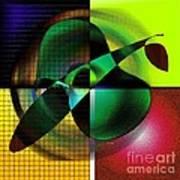 Apple Blur Poster by Iris Gelbart