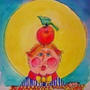 Apple Cheeks Poster
