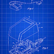 Apple Mouse Patent 1984 - Blue Poster