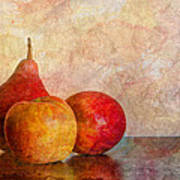 Apples And A Pear Poster