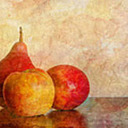 Apples And A Pear II Poster