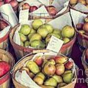 Apples And Pears For Sale Poster