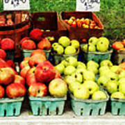 Apples At Farmer's Market Poster