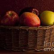 Apples In Basket Poster