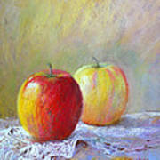Apples On A Table Poster