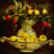 Apples Pears And Tulips Poster