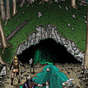 Approach To The Kobold Caves Poster
