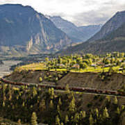 Approaching Lillooet Poster