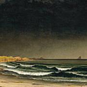 Approaching Storm. Beach Near Newport Poster