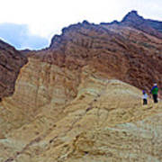 Approaching The Jagged Peaks In Golden Canyon In Death Valley National Park-california  Poster