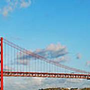 April 25th Bridge In Lisbon Poster
