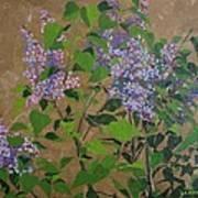 April Lilacs Poster