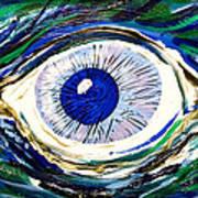 Aqua Eye Poster