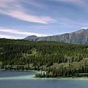 Aqua Green Mountain Lake Poster