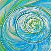 Aqua Seashell Poster