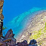 Aquamarine Shoreline At North Junction Of Crater Lake In Crater Lake National Park-oregon Poster